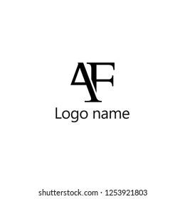 AF Letter Logo Design, Premium Vector Creative Modern identity design, vector