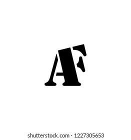 af letter vector logo