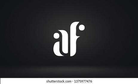 AF logo design temlplate vector illustration icon