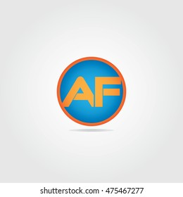 AF logo initial letter for logo apps and logo websites