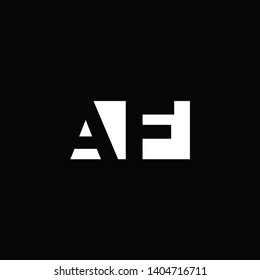 AF Logo Letter with Negative space and Black background