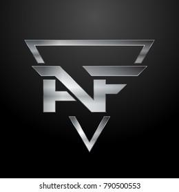 AF Logo, Monogram, Metal