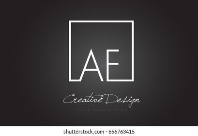 AF Square Framed Letter Logo Design Vector with Black and White Colors.