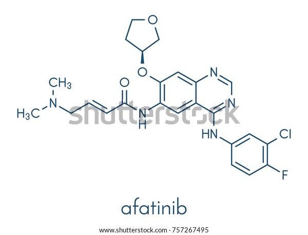 Afatinib Cancer Drug Molecule Angiokinase Inhibitor Stock