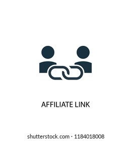 Affiliate Link icon. Simple element illustration. Affiliate Link concept symbol design. Can be used for web and mobile.