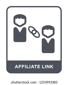 affiliate link icon vector on white background, affiliate link trendy filled icons from General collection