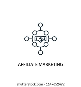 Affiliate marketing concept line icon. Simple element illustration. Affiliate marketing concept outline symbol design from Digital marketing set. Can be used for web and mobile UI/UX