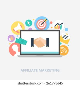 Affiliate marketing concept vector illustration