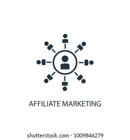 Affiliate Marketing icon. Logo element illustration. Affiliate Marketing symbol design from eCommerce collection. Simple Affiliate Marketing concept. Can be used in web and mobile.