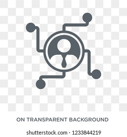 Affiliate marketing icon. Trendy flat vector Affiliate marketing icon on transparent background from Technology collection.