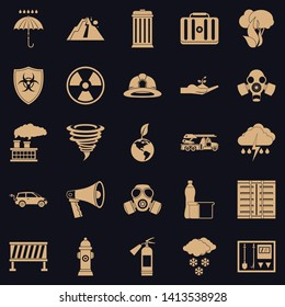 Affliction icons set. Simple set of 25 affliction vector icons for web for any design