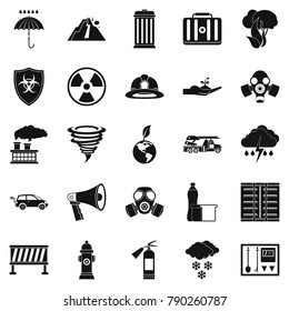 Affliction icons set. Simple set of 25 affliction vector icons for web isolated on white background