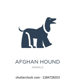 afghan hound icon vector on white background, afghan hound trendy filled icons from Animals collection, afghan hound vector illustration