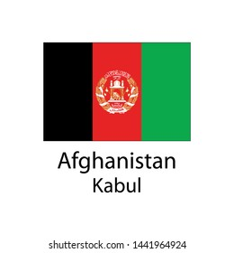 afghanistan country flag and capital name