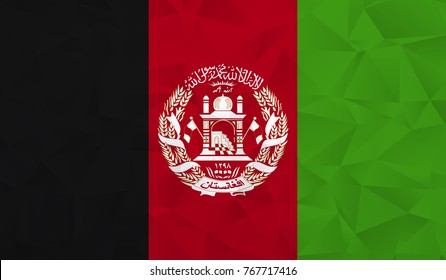 Afghanistan flag - geometric rumpled triangular low poly style gradient graphic, polygonal design for your. Vector illustration eps 10.