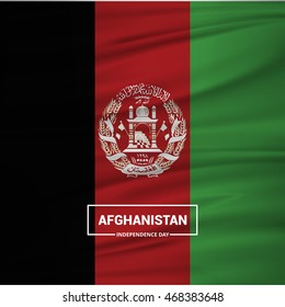 Afghanistan Independence Day. creative waving flag