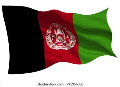 Afghanistan national flag flag icon