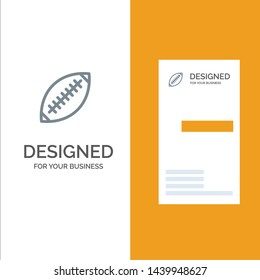 Afl, Australia, Football, Rugby, Rugby Ball, Sport, Sydney Grey Logo Design and Business Card Template