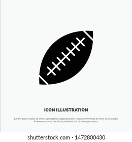 Afl, Australia, Football, Rugby, Rugby Ball, Sport, Sydney solid Glyph Icon vector