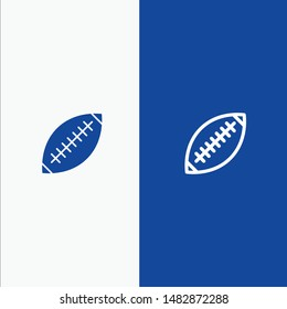 Afl, Australia, Football, Rugby, Rugby Ball, Sport, Sydney Line and Glyph Solid icon Blue banner Line and Glyph Solid icon Blue banner