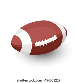 AFL rugby football ball. Vector flat illustration