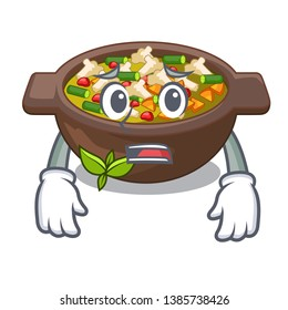 Afraid fried minestrone in the cup character