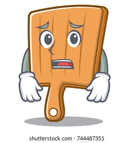 Afraid kitchen board character cartoon
