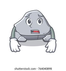 Afraid stone character cartoon style