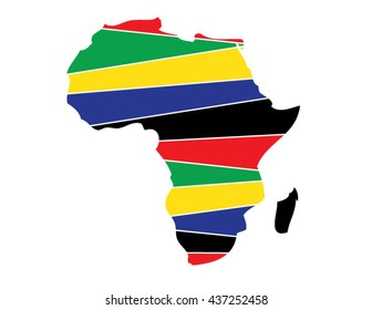 Africa, African, Continent, Land, African American, Vector, Africa Flag, Yellow, Green, Red, Blue, Symbol, Abstract Africa, Land, Earth, Country, Countries