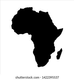 africa blank map vector . africa map template . africa silhouette . black africa map . African continent