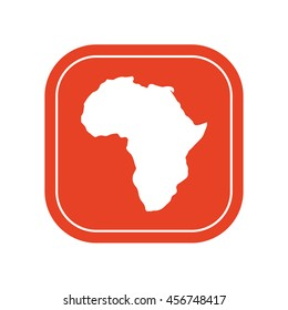 Africa continent icon . vector illustration