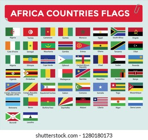 AFRICA COUNTRIES FLAGS