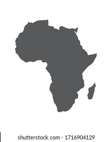 Africa country vector illustration map with black