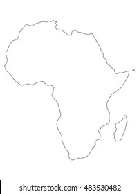 africa map blank vector illustration