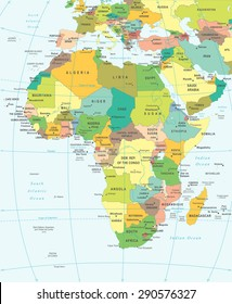 Africa map - highly detailed vector illustration