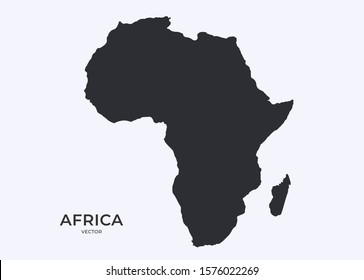 Africa Map Silhouette Silhouette Africa Images, Stock Photos & Vectors | Shutterstock
