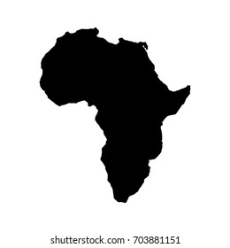 africa map isolated icon