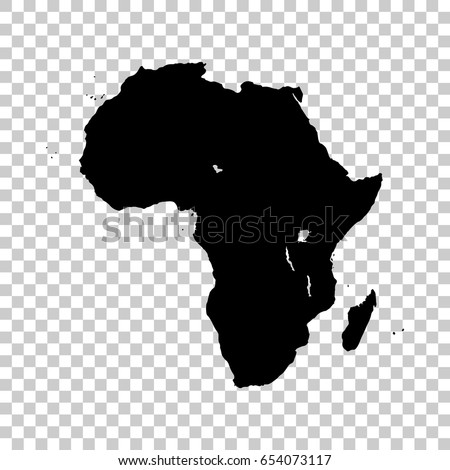 Africa Map Isolated On Transparent Background Stock Vector