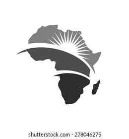 Africa Map Logo Images Stock Photos Vectors Shutterstock