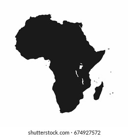 Africa map. Monochrome Africa continent icon. Vector