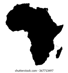 Africa map on white background vector