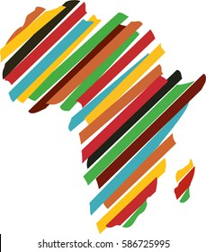 Africa map silhouette icon vector illustration graphic design. Abstract africa logo. Color Africa logo.