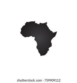 africa map vector black color