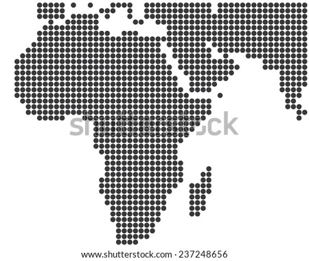 africa middle east dotted map template stock vector royalty free