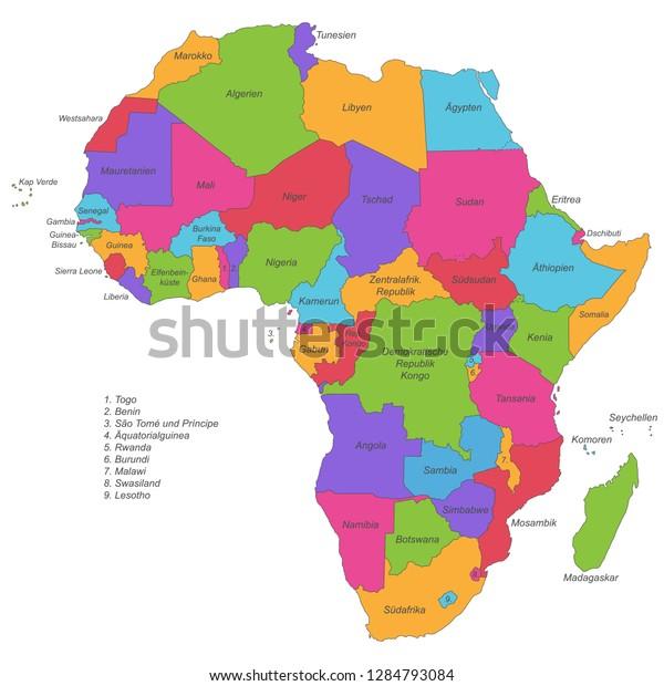 Vector De Stock Libre De Regalias Sobre Africa Mapa Politico