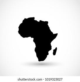 Africa shape vector