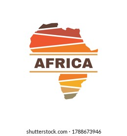 Africa silhouette concept logo design. African continent creative sign. Exotic tourism symbol. Vector illustration.