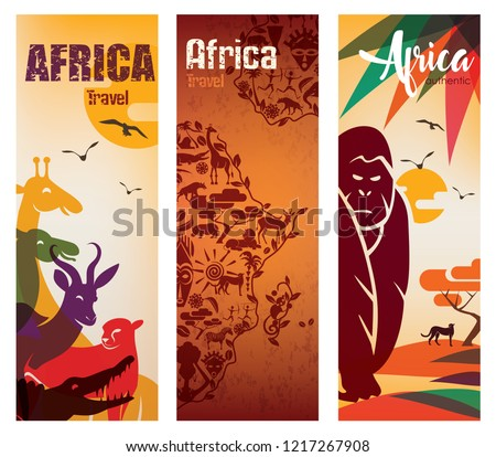 Africa travel background decorative