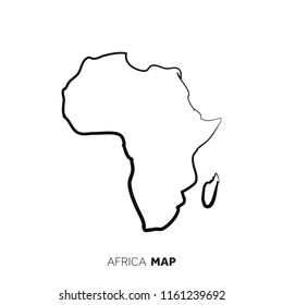 Outline Of Africa Map.Africa Map Outline Graphic Freehand Drawing Stock Vector Royalty