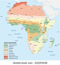 africa vegetation map